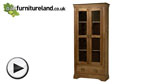 Watch French Farmhouse Solid Oak Display Cabinet video