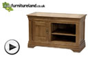 Watch French Farmhouse Rustic Solid Oak Small TV Cabinet video
