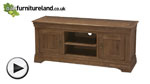 Watch French Farmhouse Solid Oak Widescreen TV Cabinet video