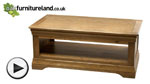 Watch French Farmhouse Rustic Solid Oak Coffee Table video
