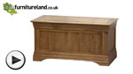 Watch French Farmhouse Rustic Solid Oak Blanket Box video