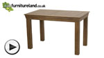 Watch French Farmhouse Rustic Solid Oak 4ft Dining Table video