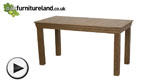 Watch French Farmhouse Solid Oak 5ft Dining Table video