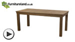 Watch French Farmhouse Solid Oak 6ft Dining Table video