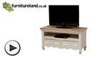 Watch French Shabby Chic Solid Mango TV Cabinet video