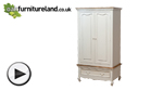Watch French Shabby Chic Solid Mango Double Wardrobe video