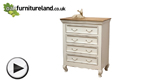 Watch French Shabby Chic Solid Mango 4 Drawer Chest video