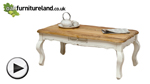 Watch French Shabby Chic Solid Mango Coffee Table video