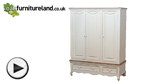 Watch French Shabby Chic Solid Mango Triple Wardrobe video