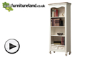 Watch French Shabby Chic Painted Mango Large Bookcase video