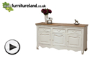 Watch French Shabby Chic Solid Mango Large Sideboard video