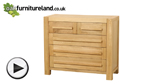 Watch Fresco Natural Solid Oak 2 + 3 Chest of Drawers video