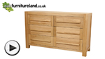Watch Fresco Natural Solid Oak 6 Drawer Chest video