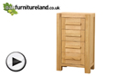 Watch Fresco Natural Solid Oak 4 Drawer Chest video