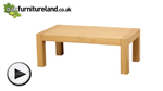 Watch Fresco Natural Solid Oak Coffee Table video