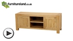 Watch Fresco Natural Solid Oak Widescreen TV Cabinet video