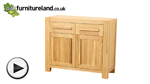 Watch Fresco Solid Oak Small Sideboard video