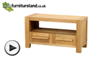 Watch Fresco Solid Oak 2 Drawer TV Cabinet video