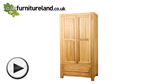 Watch Fresco Solid Oak Wardrobe video