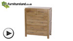 Watch Galway Natural Solid Oak Chest of Drawers video
