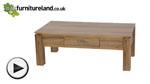 Watch Galway Solid Oak Large Coffee Table with Storage video