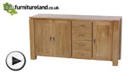 Watch Galway Solid Oak Large Sideboard video