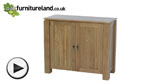 Watch Galway Solid Oak Narrow Sideboard Storage Cabinet video