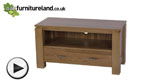 Watch Galway Natural Solid Oak TV + DVD Stand video