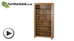 Watch Galway Natural Solid Oak Tall Bookcase video