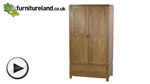 Watch Galway Solid Oak Wardrobe video