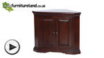 Watch Louis Philippe Solid Mahogany Corner Unit video