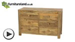 Watch Mantis Light Natural Solid Mango 6 Drawer Chest video