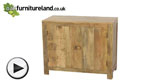 Watch Mantis Light Natural Solid Mango Small Sideboard video