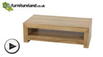 Watch Nero Solid Oak Coffee Table video