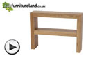 Watch Nero Natural Solid Oak Console Table video