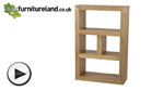 Watch Nero Solid Oak Bookcase / Storage Unit video
