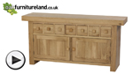 Watch Nero Solid Oak Sideboard video