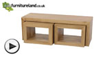 Watch Nero Solid Oak 3 Cube Nest of Tables video