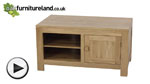 Watch Nero Solid Oak Widescreen TV + DVD Cabinet video