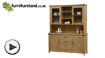 Watch Newark Natural Solid Oak Large Dresser video