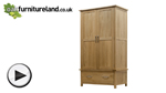 Watch Newark Solid Oak Double Wardrobe video
