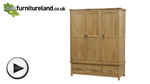Watch Newark Solid Oak Triple Wardrobe video