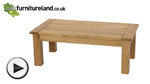 Watch Newark Natural Solid Oak Coffee Table video