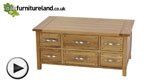 Watch Newark Solid Oak Coffee Table with Storage video