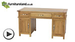 Watch Newark Natural Solid Oak Computer Desk video