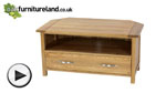 Watch Newark Natural Solid Oak Corner TV + DVD Cabinet video