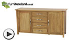 Watch Newark Solid Oak Large Sideboard video