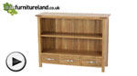 Watch Newark Natural Solid Oak Low Bookcase video