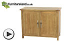 Watch Newark Natural Solid Oak Small Sideboard video