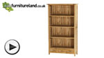 Watch Newark Natural Solid Oak Tall Bookcase video